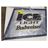 Budweiser Ice Draft Light Mirror Advertising Sign