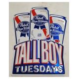 Pabst Blue Ribbon Tall Boy Tuesdays Tin