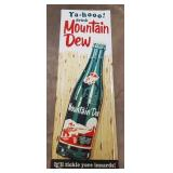 Ya-Hoo Mountain Dew Tin Embossed Sign