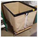 Large Canvas Laundry Cart