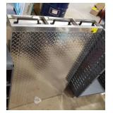 Diamond plate 3 drawer truck bed storage