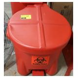 Red Biohazard Disposal Basket