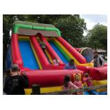 Large 22` Commercial Inflatable Double Slide