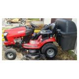 Craftsman T3200 riding mower with blower and