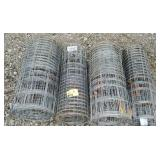 Lot of 4 Rolls of Metal garden fencing 2