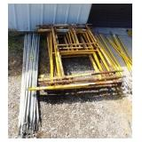 Lot of 5 Sections of Scaffolding w/cross braces.