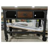 New Whalen industrial metal and wooden workbench