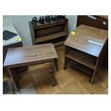 Side desk and bookshelf