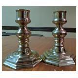 2 brass candle holders
