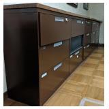 4 drawer horizontal metal filing cabinet with