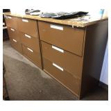 Horizontal, Metal filing cabinet with topper,