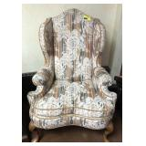 Upholstered, High back chair