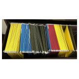 Lot of hanging file folders