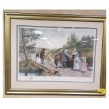 Framed print measures approximately 44.5x33.5