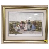Framed print measures approximately 42.5x33.5