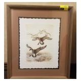 Framed etching on handmade paper signed and