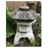 Cement Pagoda Yard Decor