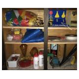 Contents Of Shelving Unit  Includes Humming Bird