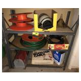Shelving Unit Section With Garden Hose, Sprayers,