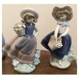 """Lladro no. 5221 & 5222  """"Sweet Scent"""" and """"Pretty"""