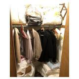 Contents Of Closet  Includes sheets, Clothes,