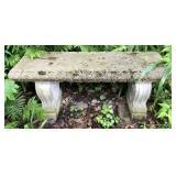 Cement Decorative Garden Bench