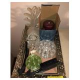 Serving Tray With Decorative Items and More