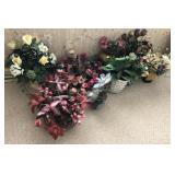 Large Lot Of Faux Decorative Flowers