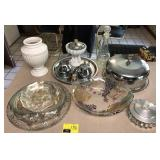 Lot Of Glassware, Serving Plates, and More