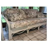 Rattan Couch With Coushins
