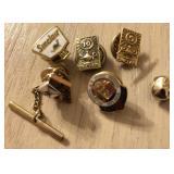 10k Gold Service Award Pins and Gold Filling Lot