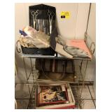 Metal Shelving Unit With Contents Includes
