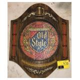 Vintage Old Style Beer Sign Does have some