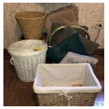 Lot Of Wicker Baskets And More
