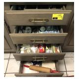 Kitchen Utensils and More In Drawers