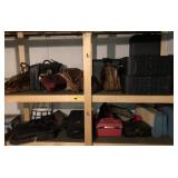 Shelving Unit Section Full of Luggage