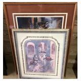 Lot Of Framed Horse Prints