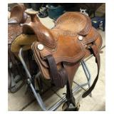 Billy Cook Tooled Leather Saddle