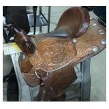 Easy Rider Saddle Co. The Rider Tooled Leather