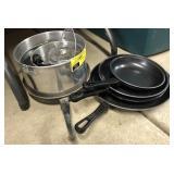 Lot of pots cans pans