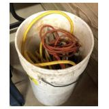 Bucket With Extension Cords