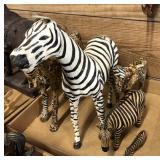 Lot of Decorative Zebras