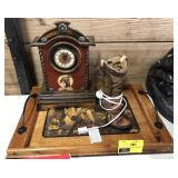 Decorative Western Lot Includes Horse Tray,