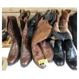 Leather Cowboy Boots  Six pairs times the money.