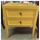 Yellow Wood Nightstand/ End Table
