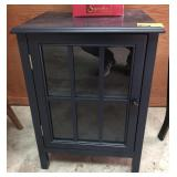 Wood and Glass Cabinet Side Table