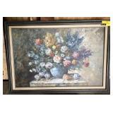 Framed Flower Art Work Signed