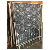 Metal Full Size  Bedframe With Mattress and More