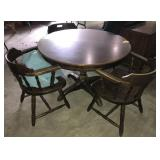 Wood Dining Table With 3 Chairs