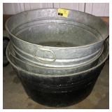 Large Galvanized Tub Bucket